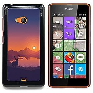 """Qstar Arte & diseño plástico duro Fundas Cover Cubre Hard Case Cover para Nokia Lumia 540 (Estimado Sunset"""")"""