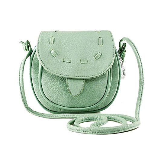 Zenteii Small Shoulder Bag Green Synthetic Leather For Little Girl