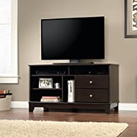 Sauder 414802 Entertainment Center, Credenza, Mocha Wood