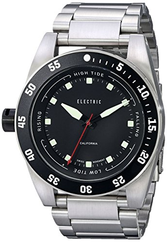 Electric Men's EW0140010001 DW03 Stainless Steel Band Analog Display Swiss Quartz Silver - Sunglasses Designer Hand Second
