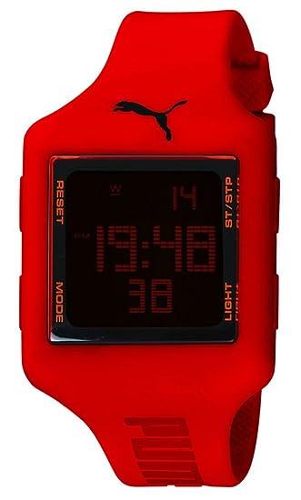 PUMA PU910791005 - Reloj digital unisex, correa de plástico color rojo: Puma: Amazon.es: Relojes