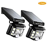 Outdoor Wireless Solar Lights, Intelligent dynami Sensor, 8 LED Lighting Super Bright Motion Sensor Light, Wall Solar Light Outdoor Security Lighting - IP65 Waterproof Solar Light for Patio (2pack)