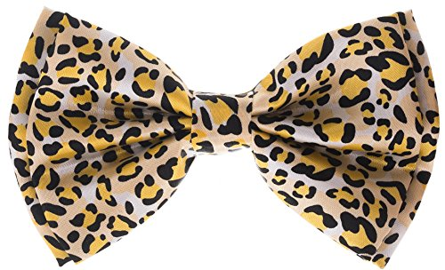 (Bowtie - Leopard - White, Yellow & Black)