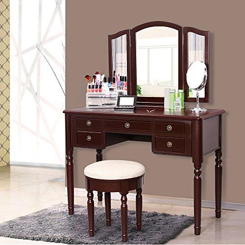 home furniture bedroom vanity set urdt108k songmics
