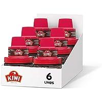 KIWI Crema Abrillantadora con Aplicador, Nutre y Protege, para Calzado, Marrón Oscuro, 50ml, Pack de 6
