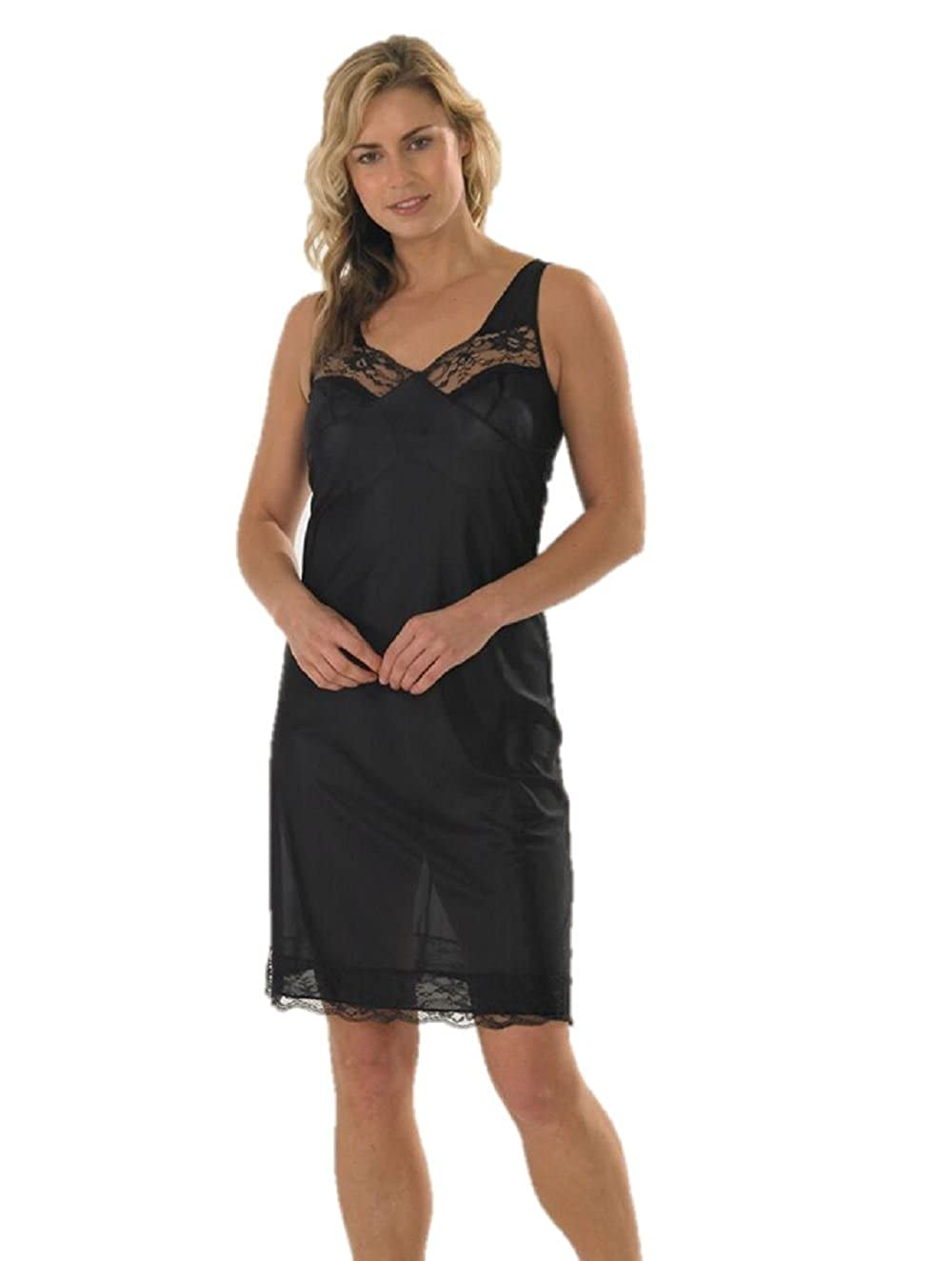 Marlon Ladies Full Slip Black 22