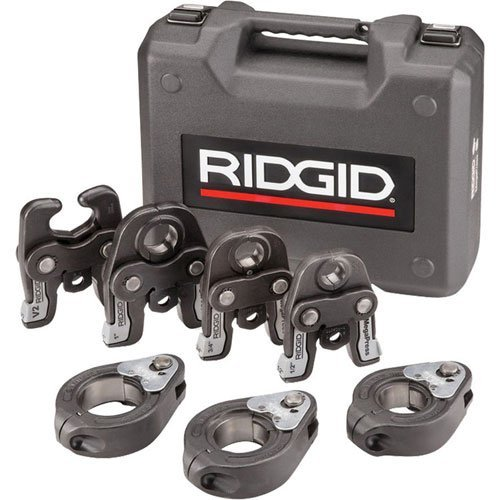 RIDGID 48553 MegaPress Jaws And Rings, 1/2 Inch to 2 Inch MegaPress Kit, Hydraulic Crimping Tools