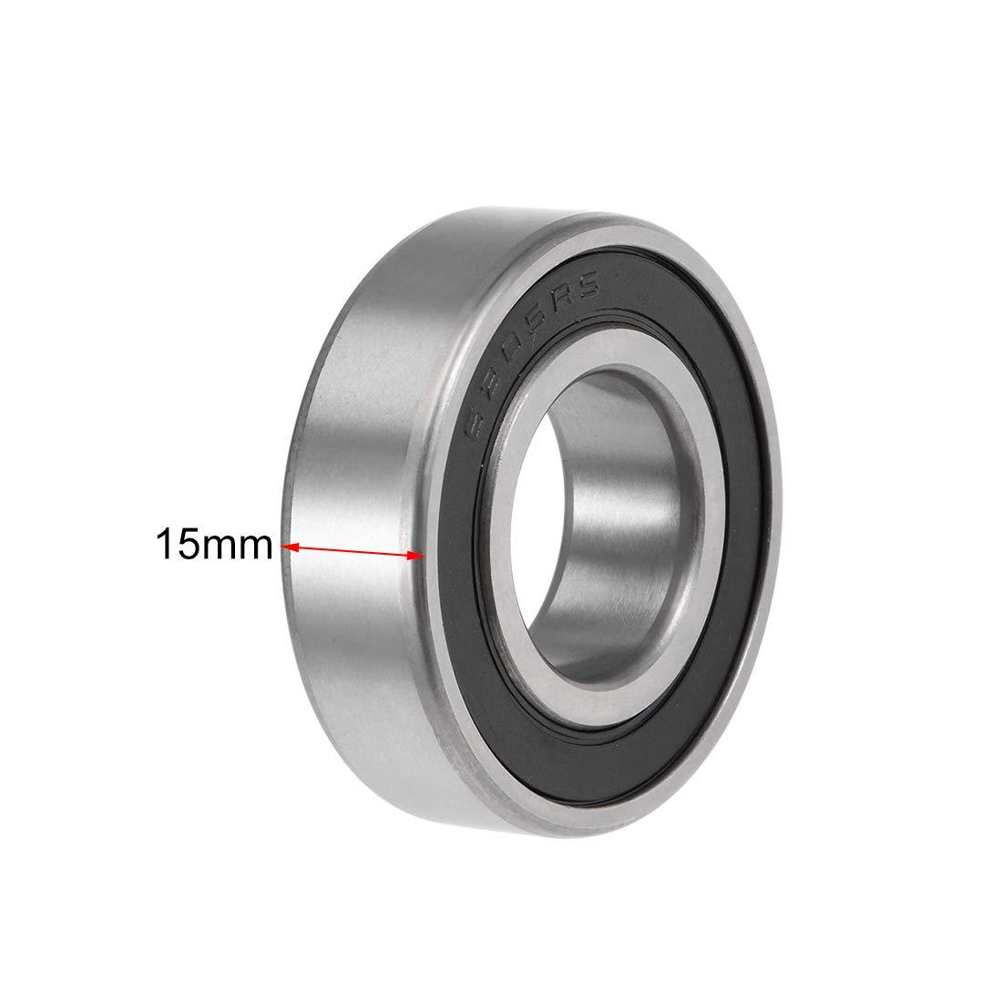 2PCS 6205-2RS Deep Groove Ball Bearing 25mm*52mm*15mm