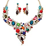 Best Palm Beach Jewelry Statement Necklaces - Palm Beach Jewelry Multi-Color Simulated Crystal Gold Tone Review