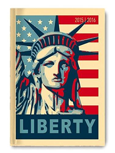 collegetimer-liberty-2015-2016-schlerkalender-a5-day-by-day-352-seiten-usa-stars-and-stripes-freiheitsstatue