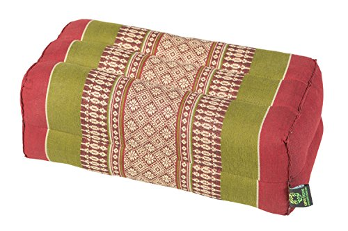 Meditation Cushion & Yoga Prop, 100% Kapok (Plum & Olive). by Kapok-Dreams.]()
