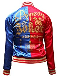 Leather Marvel Harley Quinn Suicide Squad Satin Jacket for Women