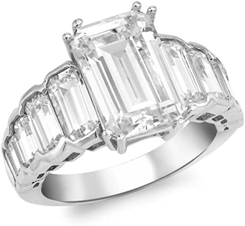 bague or blanc rectangulaire
