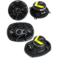 2) Kicker 41DSC54 5.25 200W 2-Way + 2) 41DSC6934 6x9 360W 3-Way Car Speakers