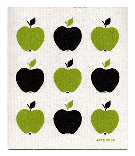 Swedish Dishcloth, Set of 4 (BG) Black & Green Plants Designs by Trendy Tripper (Image #3)
