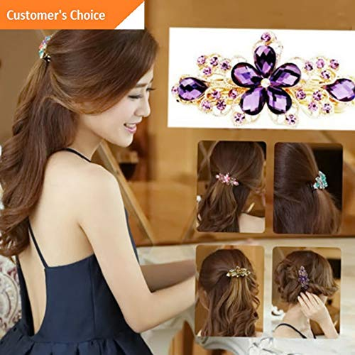 - Hebel Women Jewelry Crystal Rhinestone Flower Hair Barrette Clip Hairpin Accessories | Model HRPN - 5024 |