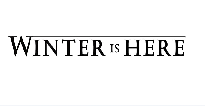 Amazon com winter is here vinyl decal wall car laptop beige 20 inch home kitchen