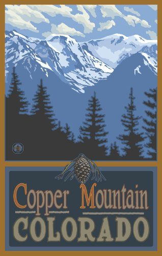 Northwest Art Mall Copper Mountain Colorado Summer Mountain Range SMR Wall Art by Paul A. Lanquist, 11-Inch by 17-Inch