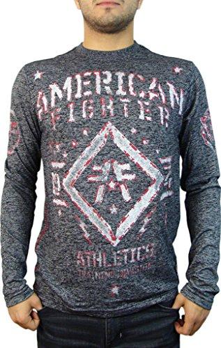 Butler LS der American Fighter Männer M.Ü. Grafik T Shirt