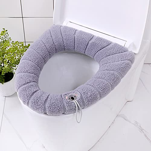 Badkamer Toiletbril met handvat Closestool Wasbare Zachte Winter Warmer Mat Pad Kussen O-vorm Toiletbril Bidet Covers…