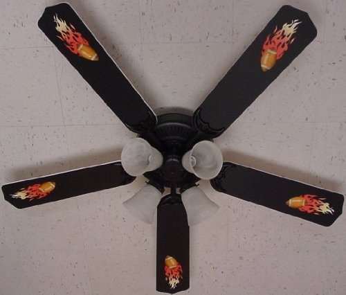 Ceiling Fan Designers Ceiling Fan, Flaming Footballs, 52'' by Ceiling Fan Designers