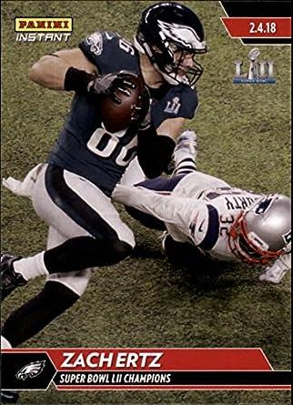 c2889988c8f Amazon.com: 2018 Panini Eagles Super Bowl LII #527 Zach Ertz NFL Football  Trading Card: Collectibles & Fine Art