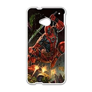 Deadpool HTC One M7 Cell Phone Case White Phone cover O7525636