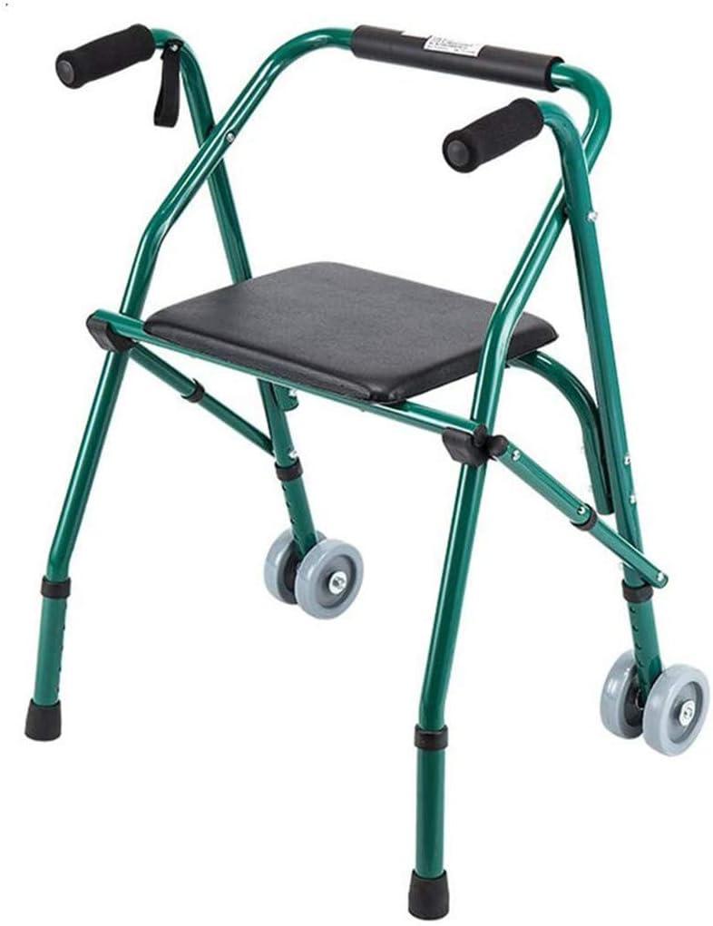 SHHYD Plegable Caminante con 2 Ruedas Y Mesa De Estar, Ligero Y Portátil Estándar Caminantes Andador para Ancianos