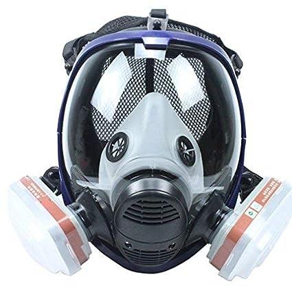 Máscara de respiración Completa con filtros similares para 6800 máscaras orgánicas Vapores N95 Nivel Silicona respirador