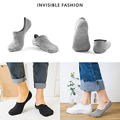 Women's 3-9 Pairs Casual Thin No Show Socks Non Slip Flat Boat Line: Clothing