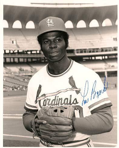 Autographed Signed Lou Brock 8x10 Photo St. Louis Cardinals - Certified Authentic