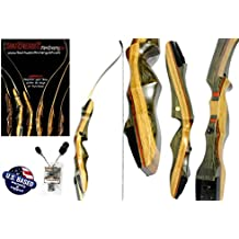 "Spyder Takedown Recurve Bow and Arrow Set – 62"" Recurve Hunting Bow – Right & Left Hand – Draw Weights in 20-60 lbs – USA Based Company – Perfect for Beginner to Intermediate"