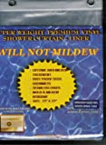 Mildew Resistant EXTRA Thick VINYL Shower Curtain/Liner - SUPER CLEAR