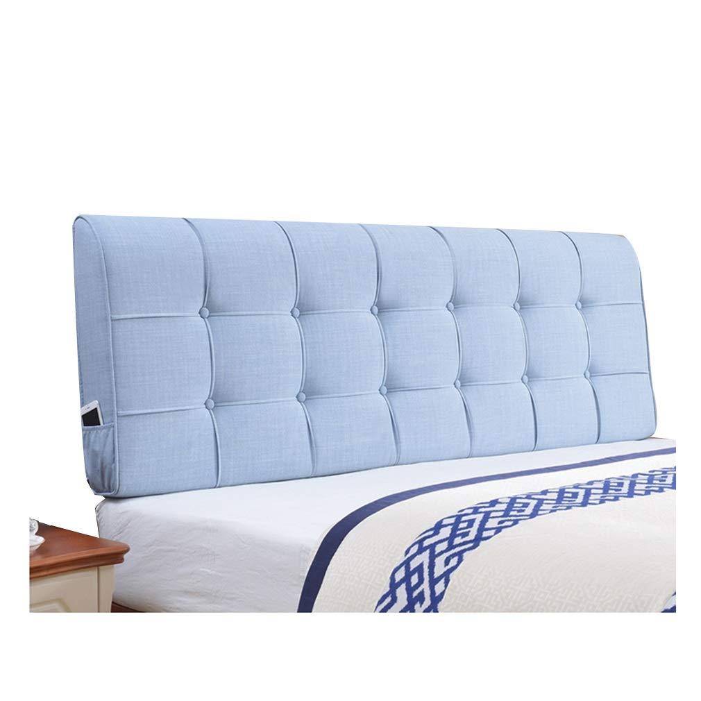 PENGFEI クッションベッドの背もたれ抱き枕 ランバーサポート 疲労を和らげる 洗える、 ヘッドボード標準の有無にかかわらず、 5色、 6サイズ (色 : Blue-B, サイズ さいず : 160CM) 160CM Blue-B B07MJRGS76