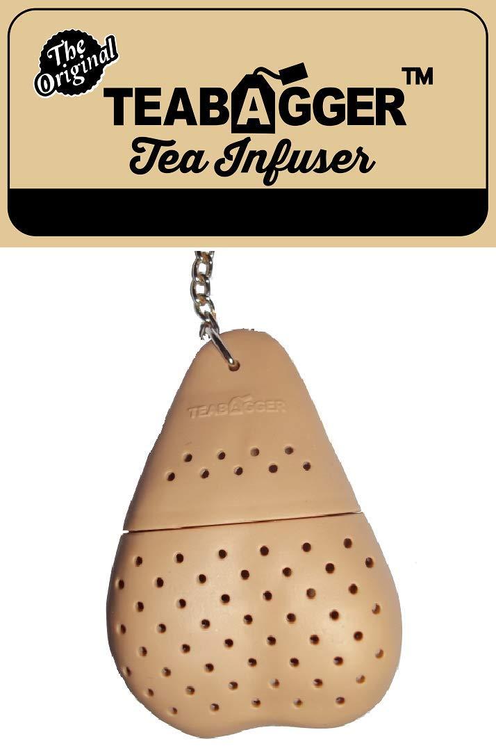 The Tea Bag Tea Infuser Funny ''Gag Gift'' Novelty For Men and Women Stocking Stuffers (Beige)
