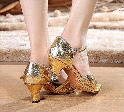 36 Suela relieve Bombas 40 gold Samba mujer Zapatos a de o Danza en PU moderna blanda latinas Tama wIw6Yvq