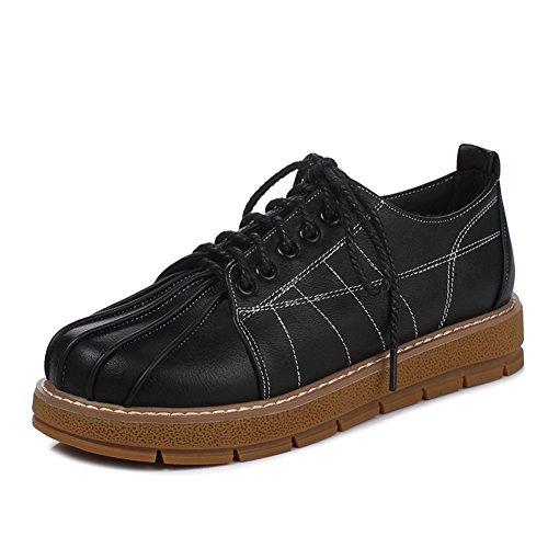 Escuela de primavera y otoño zapatos bajos de viento con plano/lazos profundos/Zapatos del estudiante B