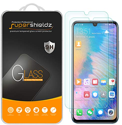 [2-Pack] Supershieldz for Huawei (Honor 10 Lite) Tempered Glass Screen Protector, Anti-Scratch, Bubble Free, Lifetime Replacement