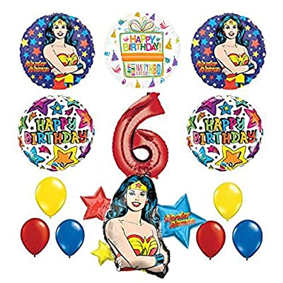 Mayflower Products Wonder Woman 6th Birthday Party Supplies and Balloon Decorations: Toys & Games