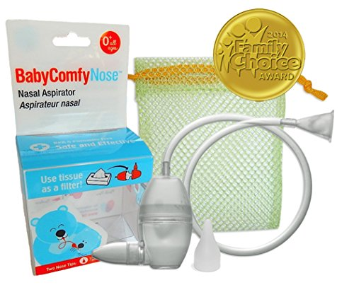 BabyComfy Nasal Aspirator -- The Snotsucker -- Hygienically & Safely Removes Babys Nasal Mucus  Clear