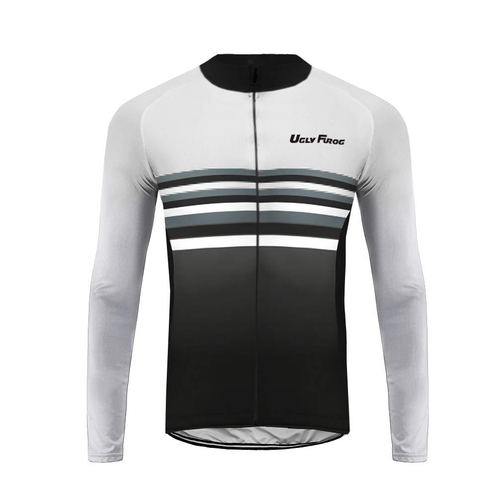 Uglyfrog Maglia da Uomo a Manica Lunga Per Ciclismo Maglia da Corsa Abbigliamento Casual Camicie Quick Dry Camicie Inverno Warm Cappotto