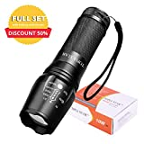 TOPIA STAR Powerful Flashlight, Professional Outdoor Warerproof Rechargeable Led Flashlight