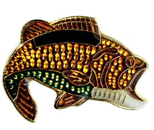 Sujak Military Items Bass Fish Hat or Lapel Pin ()