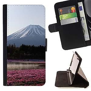 Momo Phone Case / Flip Funda de Cuero Case Cover - Ver Flores Bosque Campo - Sony Xperia Z2 D6502