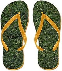 63d5c88d6b53 Kusa Grass Flip Flops - NoveltyStreet