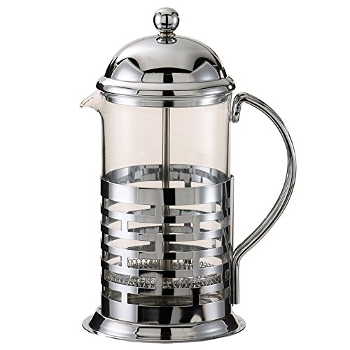 (Service Ideas T877B Brick Coffee Press, Polished, Stainless Steel, 1000 mL)