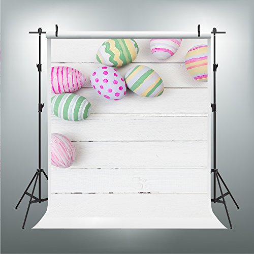 Maijoeyy 5x7ft Easter White Wall Photography Backdrop Color Eggs Customized Photo Backgrounds Backdrops MJ-347765567-D1