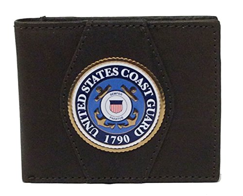 U.S. Coast Guard Genuine Leather Wallet Black