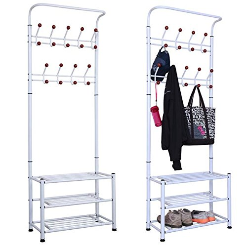 Yaheetech Fashion Heavy Duty Garment Rack with Shelves 3-...