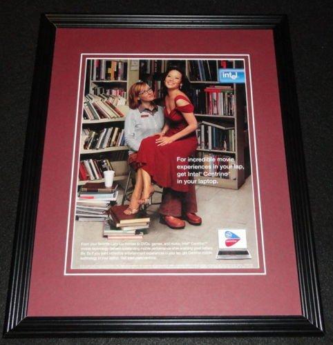 lucy-liu-2005-intel-centrino-framed-11x14-original-advertisement
